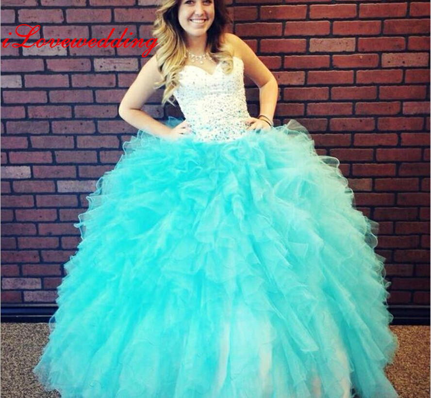 2015 Sweetheart Quinceanera Dresses Formal Party Prom ...