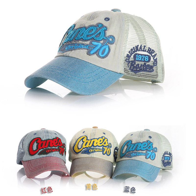 Brand Name 2014 Letter Take Children Baseball Caps with Mesh Five Stars Baby Boys Girls Summer Sun Hats Kids Visor Free Shipping(China (Mainland))
