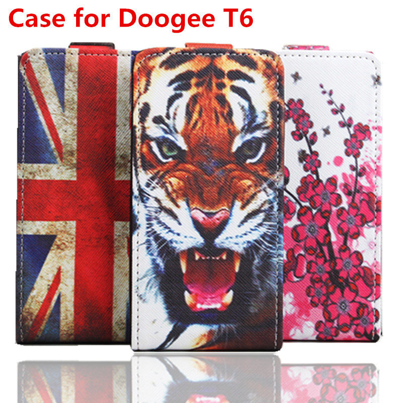 100% High Quality Leather Case For Doogee T6 Flip Cover Case housing For Doogee T 6 Leather Cover Mobile Phone Cases(China (Mainland))