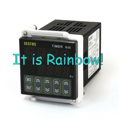 Free Shipping B2E-2R-220 0.01S-99H99M Twin Timer Time Delay 2 Relay Output AC 100-240V<br><br>Aliexpress