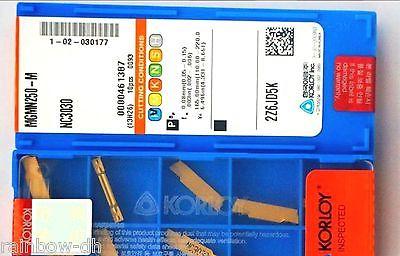 Фотография DHL/EMS 5 LOTS New in box Kor-loy MGMN250-M NC3030 CNC Carbide Inserts 10PCS/Box -E1