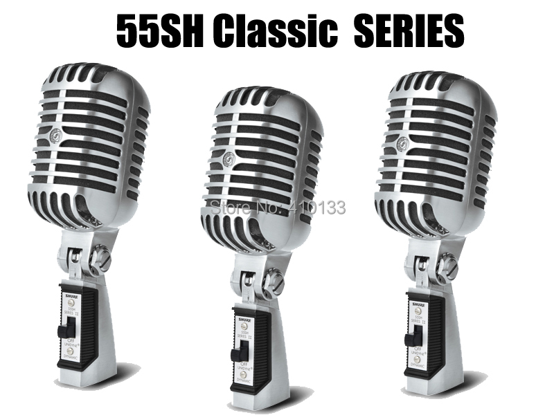 Free shipping vintage classic series 55SH Elvis good sound Handheld vocal Karaoke dynamic microphone mike mic<br><br>Aliexpress