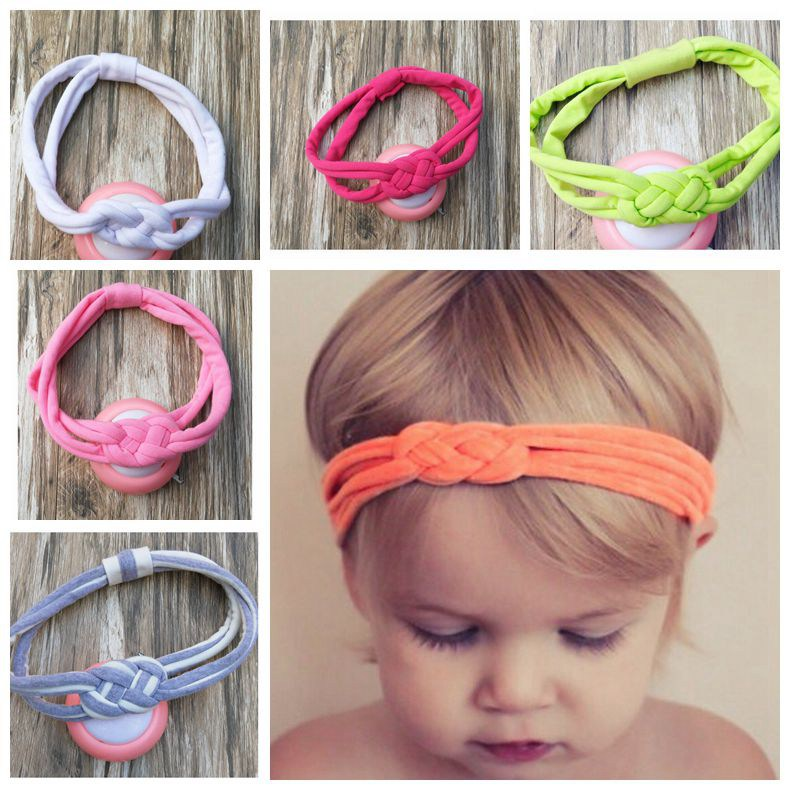New cotton baby Sailor Knot turban headband stripe head wraps girl cute headwrap knit Twist Knotted Turban Twisted FD6556(China (Mainland))