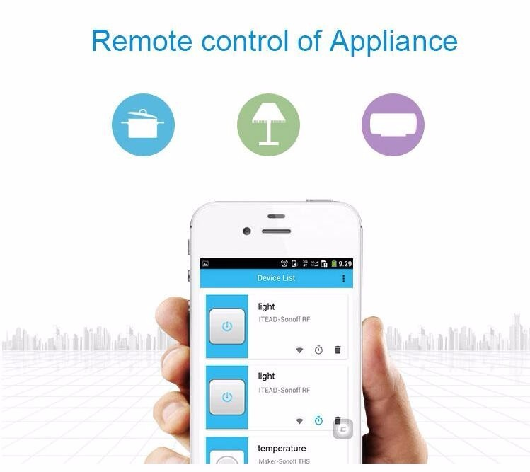 image for Sonoff S20 Wifi Wireless Remote Control Socket Smart Home Power Socket