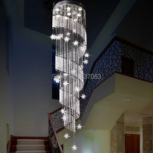 Free shipping spiral design modern crystal chandelier light lustres de sala ighting fixtures long stair chandeliers(China (Mainland))