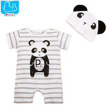 Newborn Baby Rompers Summer Style Baby Girls Clothes 2pcs Animal Cartoon Infant Jumpsuits Ropa Bebes Baby Boy Brand Clothing Set(China (Mainland))