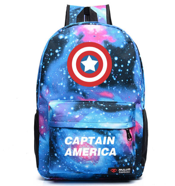 New Arrival Captain America Shield Backpack Women And Men Printing Backpack Sports Canvas Bag Students School Backpacks L92