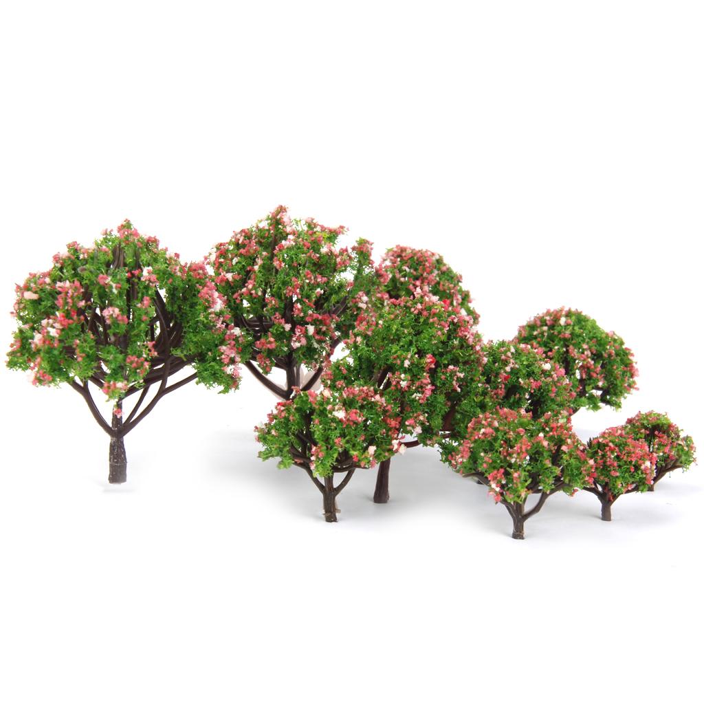 Hot Plastic Christmas Decoration Peach Trees Model Train Railroad Scenery Scale 1:75 - 1:500 10pcs Model Building Kits Sets(China (Mainland))