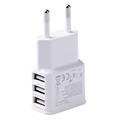 New 5V 2 0V EU Plug 3 Ports Universal USB Wall Travel Charger Adapter for iPhone