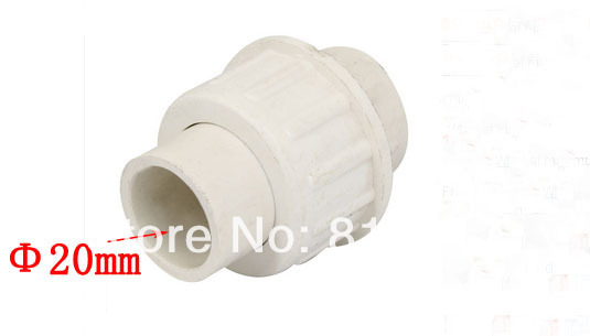 20mm Inner Diameter Male Adapter PVC Pipe Fitting Straight Connector White(China (Mainland))