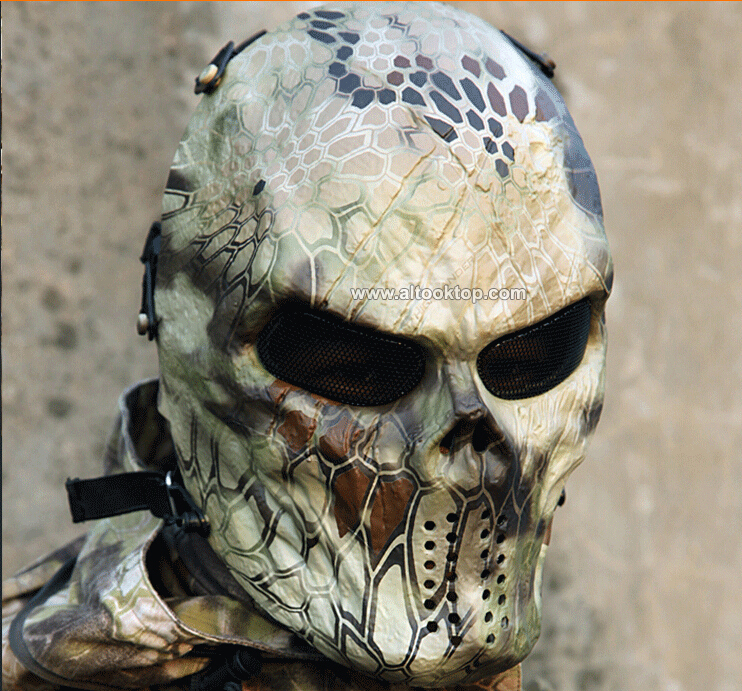 Camouflage tactical masks outdoor military wargame paintball mask airsoft skull mask masque deguisement scary mascaras halloween(China (Mainland))