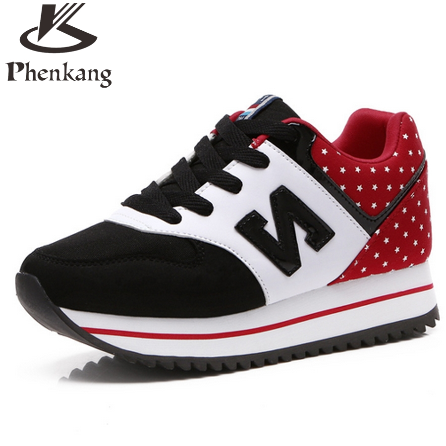 Comfortable Walking Spring Pink red black Casual Shoes 2016 Air Trainer Shoes Casual Women Blue Fashion Flat Lace-Up Breathable(China (Mainland))