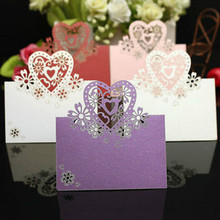 Buy 100pcs/lot Select Laser Cut Paper Place Cards Escort Name Table Mark DIY Festival Wedding Party Decoration Place Card Suppliers for $11.09 in AliExpress store