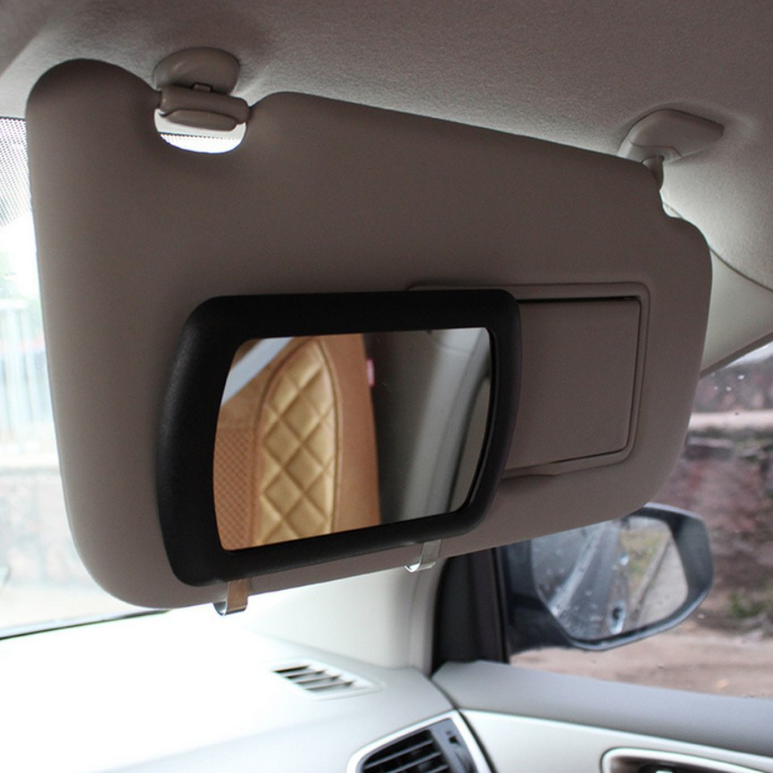 sun visor mirror large car makeup sun shading mirror car cosmetic mirror vanity mirror auto. Black Bedroom Furniture Sets. Home Design Ideas