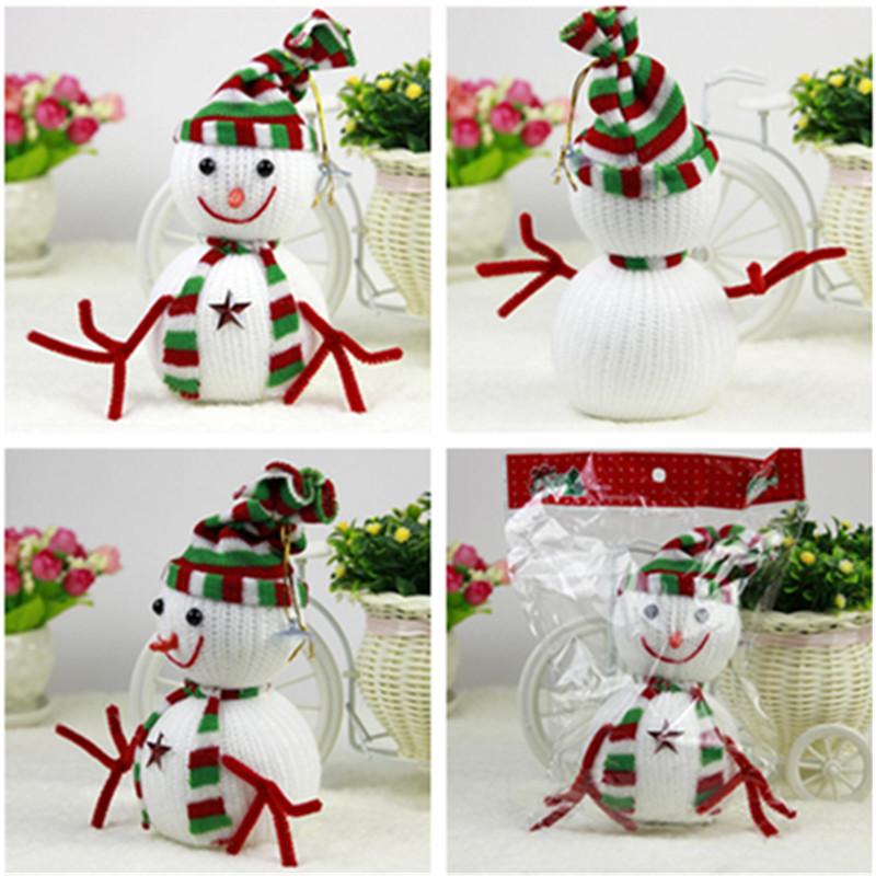 30PCS Snowman Christmas Decoration Ornaments kids baby cartoon animal Doll fun anime plush toys free shipping Home new year Gift(China (Mainland))