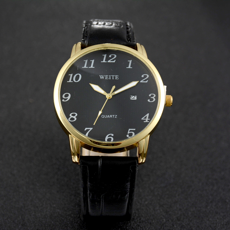 leather watches quartz contents package weite watch x s band shipping pp men with free