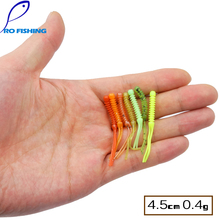 Pesica Artificial 4.5cm 0.4g 45pcs 15pcs/bag Japan Silicone bait Rock Fly Worm Bass Rubber Soft Shad Soft Lure Fishing Lure