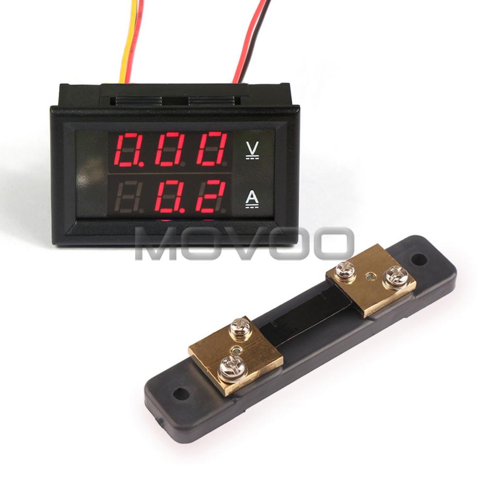 Dc Digital Voltage Meter : In voltage current monitor meter dc v a red led