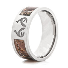 Realtree Antler Camo Ring Deer Track Realtree Camo Ring wedding band Men jewelry lover rings anel(China (Mainland))