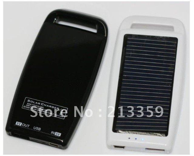 Free Shipping for New 1000mAH Solar Panel USB Battery Charger Mobile Phone Silver hot!