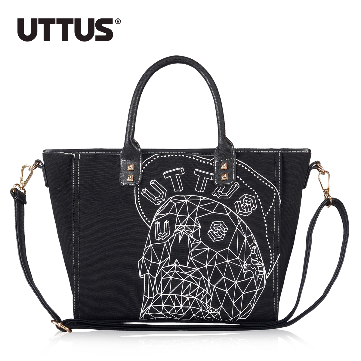 women messenger bags 2015 new handbag fashion casual canvas shoulder bag  skull print Messenger bag(China (Mainland))