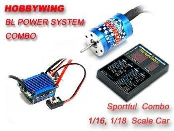 EZRUN 18T 5200KV Brushless Motor 25A ESC & LED Program Card Combo
