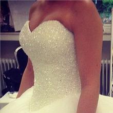 RBP454 hot-vendita 2015 abito da sposa bead vestido de noiva lace-up torna robe de mariage bianco/avorio abiti(China (Mainland))