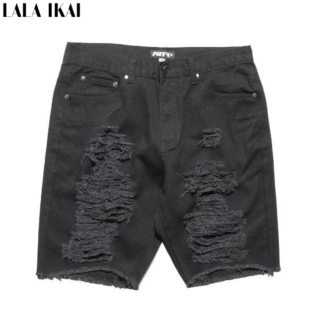 Urban Outfitters Mens Shorts Casual Vintage Worn Out Mens Ripped Jean Shorts Skate Zip Up Destroyed Black Shorts Men KMJ0001-5(China (Mainland))