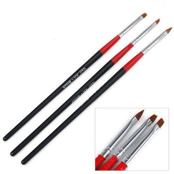 3 PCS UV Gel Acrylic Nail Tips Nail Art Builder Brush Pen Drawing Design Painting Pen Dropshipping free shipping