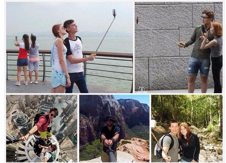 2016 GIFT Handheld Extendable selfie stick for iPhone 6 5s For Samsung Galaxy S4 S5 monopod Mini Self-Pole Tripod Monopod self