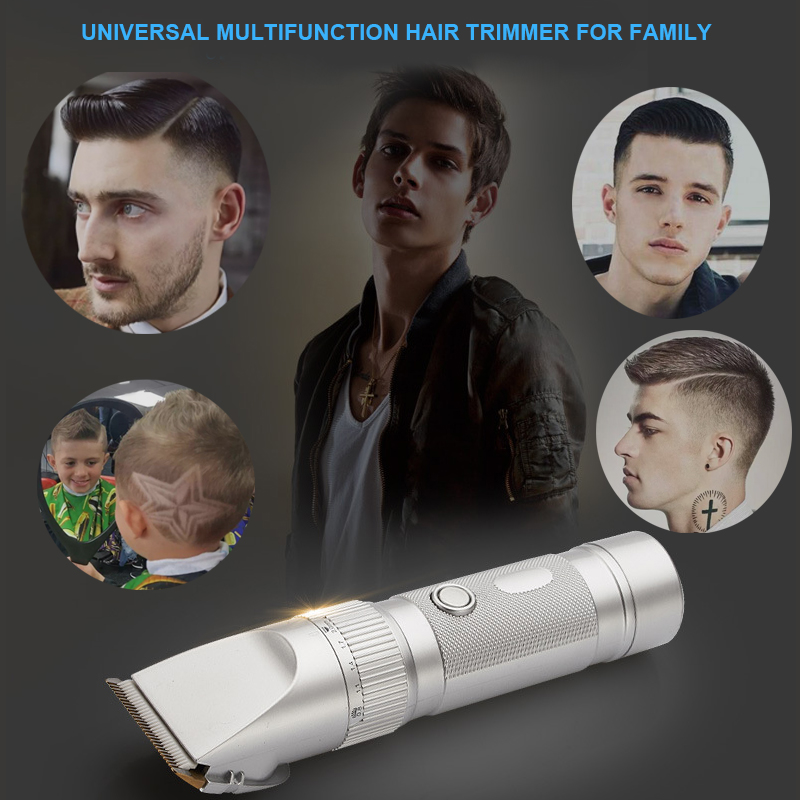 FRESHING Waterproof Rechargeable Electric Hair Clipper Hair Trimmers Professional Cutting Haircut Styling Tools With Comb(China (Mainland))
