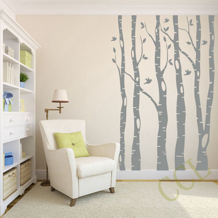 Extra large tree wall stickers home decor large tree and for Decoration adhesif mural
