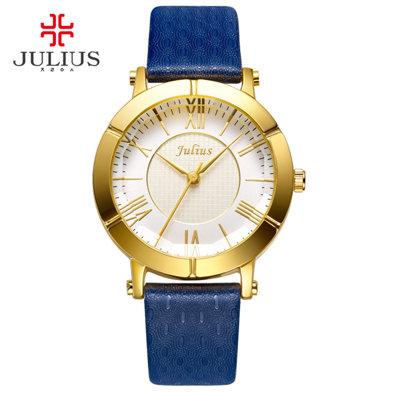 women 39 s lucky brand watches promotion shop for promotional julius blue watch women genuine leather strap rose gold plated watch top brand women luxury leather quartz military reloj ja 789