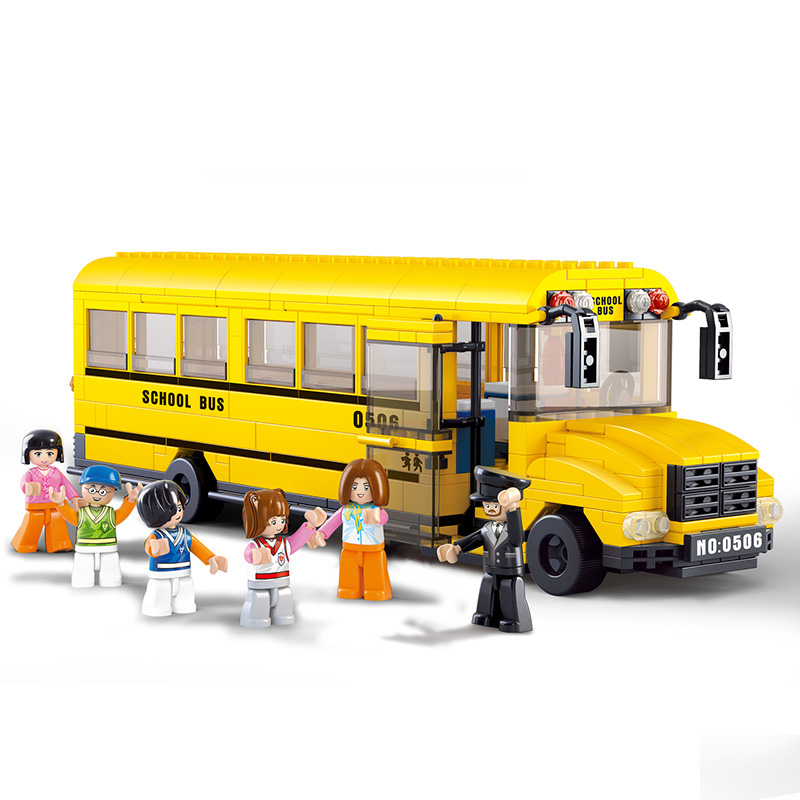 Sluban 0506 School Bus Building Blocks 392 pcs/set Car Model Building bricks DIY Toys Compatible with Lego(China (Mainland))