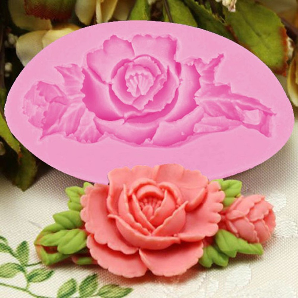 3D Rose Flower Cake Silicone Mold Fondant Cake Decorating ...