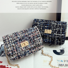 Women's handbags 2016 woolen clutch chain bag small lock button clutch top-handle bags shoulder bag cross-body women's small