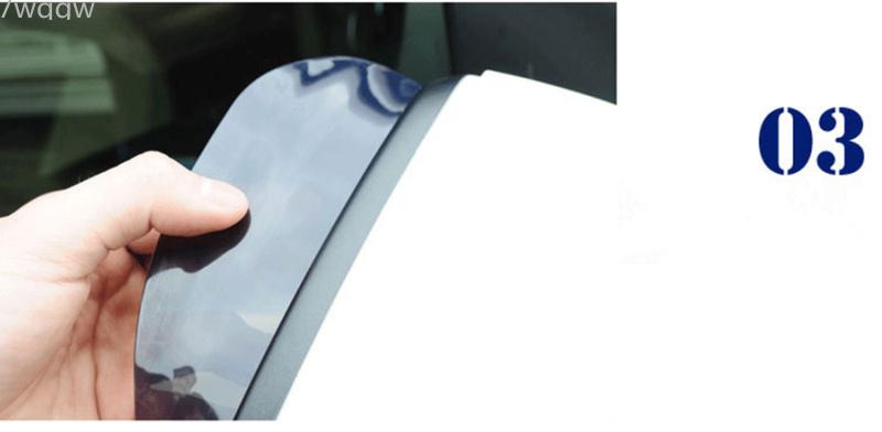 1pair Car Back Mirror Eyebrow Rain Cover For Land Rover Lr4 Lr3