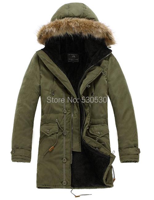 New Fashion Men Sport Brand Woolly Hat Coat 2014 Men s Winter Warm Long Slim Coats