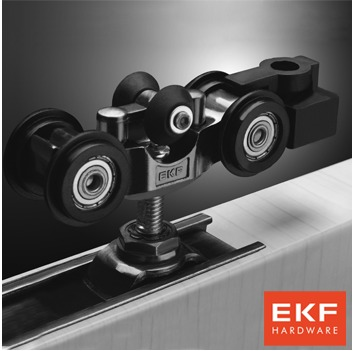 EKF wood crane pulley / track shift pulley / super mute ph pull hanging wheel /E-120080(China (Mainland))