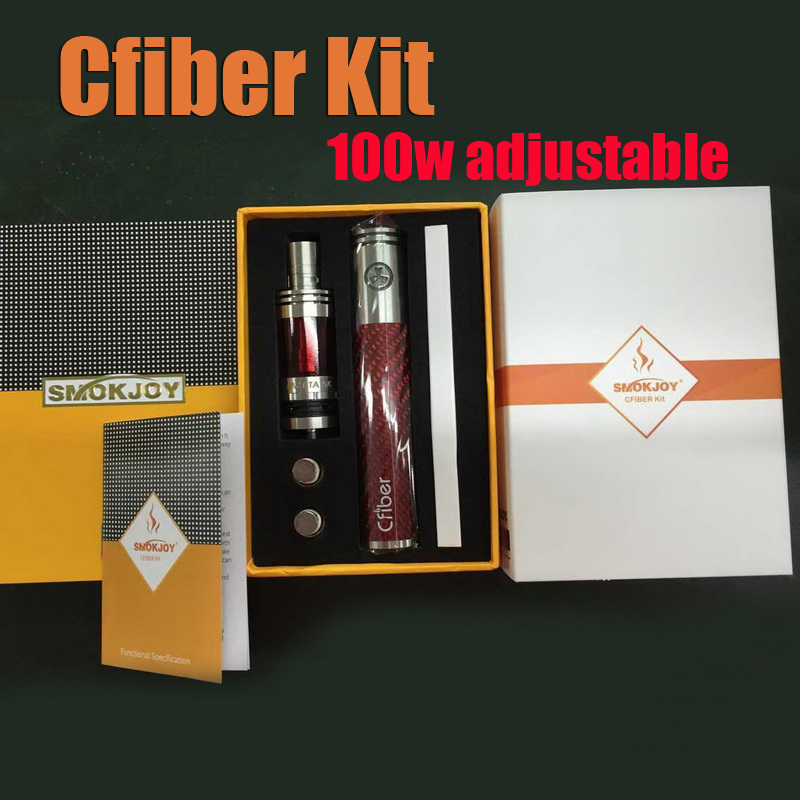 Cfiber 100w sub ohm Kit 3000mah 100w Cfiber Battery With Face Tank support 0.1-1.0ohm Atomizer VS Cfiber 30w  <br><br>Aliexpress