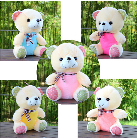 Super cute colorful machines doll little teddy bear children toy doll toys children's birthday present Free shipping(China (Mainland))