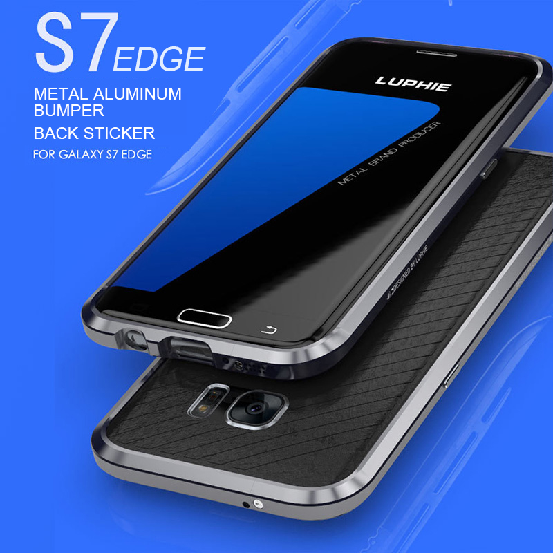 Luphie Rapier Series Metal Case for SAMSUNG Galaxy S7 Edge/ S7 Aircraft Aluminum Bumper Frame Phone Cover + Back Leather Sticker(China (Mainland))