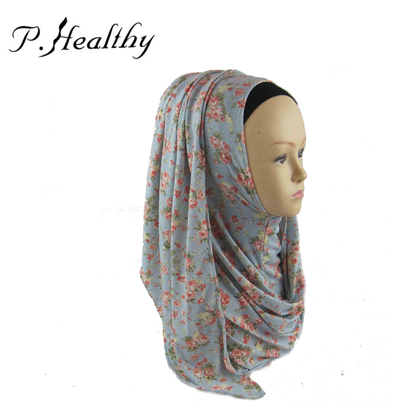 Free Shipping Muslim Hijabs 2015 New Fashion Headband Jersey Print Instant Scarves and Shawls For Women Islamic Hijab ch011Одежда и ак�е��уары<br><br><br>Aliexpress