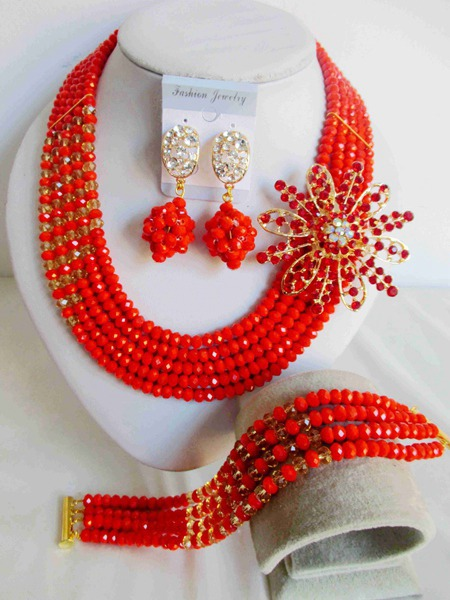 2015 new Fashion african beads Jewelry set crystal beads necklace set nigerian wedding african jewelry set free shipping WI-2570<br><br>Aliexpress