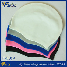 Free shipping good price 2016 new arrival good quality lightweight 40gs waterproof Fwin swimming silicone caps for women and men