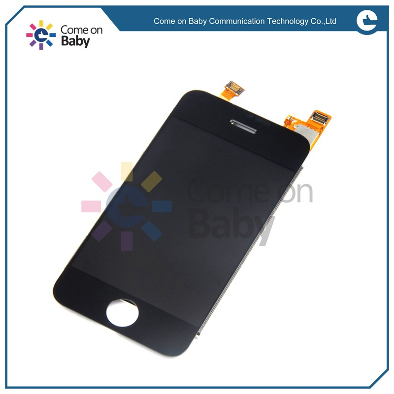 5pcs/lot Free shipping Black OEM touch screen LCD digitizer display outer top glass Complete Front panel Assembly For iPhone 2G(China (Mainland))
