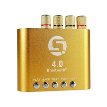 Buy Mini 50W+50W Stereo Hifi Bluetooth Power AMP Amplifier Audio Headphone, Gold for $23.66 in AliExpress store