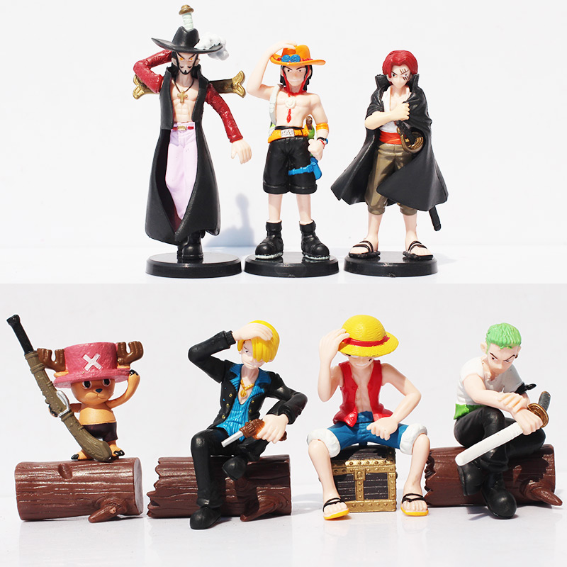 Anime Action Figures One Piece Luffy Zoro Mihawk Ace Sanji Shanks Chopper PVC Action Figure Brinquedos Collection Toys