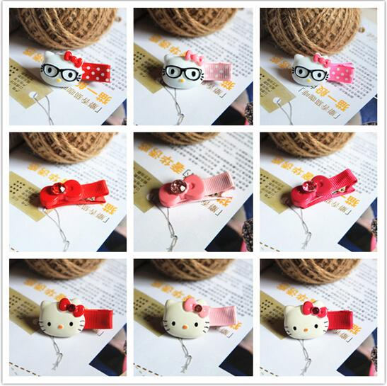 New Arrival styling tools Cute Hello Kitty Bow hairpin hair accessories for women girl children make you fashion(China (Mainland))