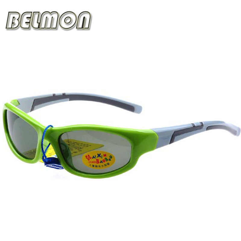 Kids Sports Polarized Sunglasses 2016 Brand Sun Glasses Boys&Girls Baby Suitable For Children Aged 3-10 TR90 Frame Oculos RS118